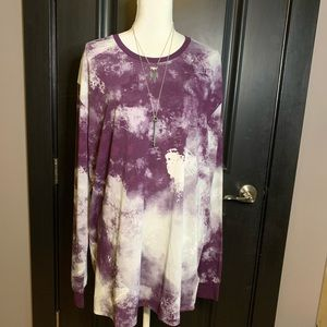 💜Purple Tye-dye Long Sleeved Hudson Top💜